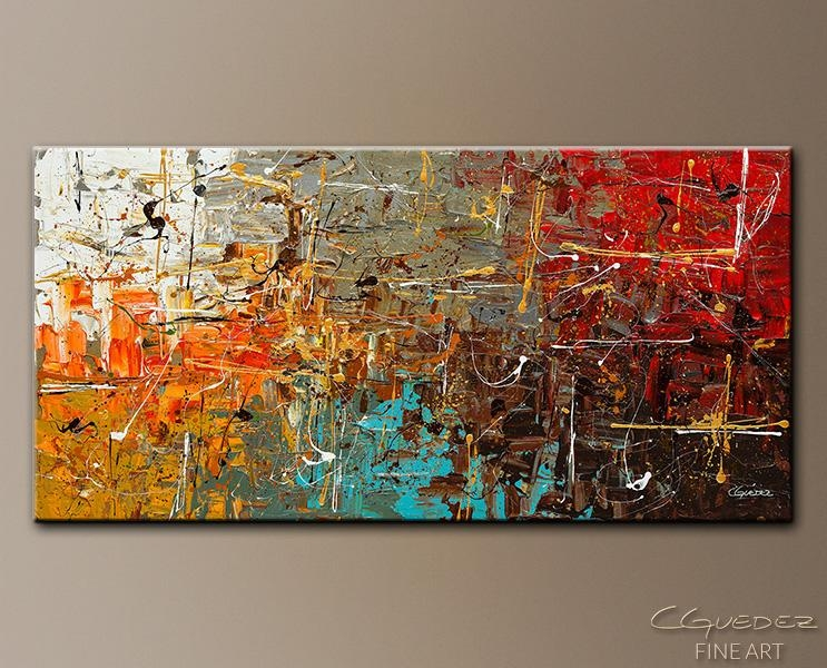 Abstract Modern Design Orange Canvas Artbuy Abstract Modern For Pertaining To Contemporary Abstract Wall Art (Image 5 of 20)