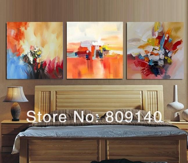 Abstract Oil Painting Canvas Quality Handmade Modern Simple Home Inside Abstract Wall Art For Bedroom (Image 5 of 20)