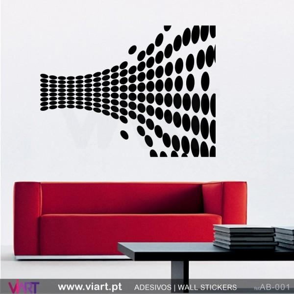 Abstract Optical Illusion! Wall Stickers – Wall Art – Viart With Abstract Art Wall Decal (Image 5 of 20)