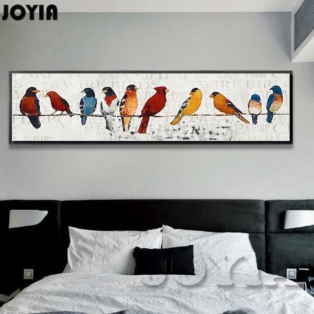 Abstract Room Picture Classic Style Decor Sparrow Group Wire Within Abstract Bird Wall Art (Image 5 of 20)