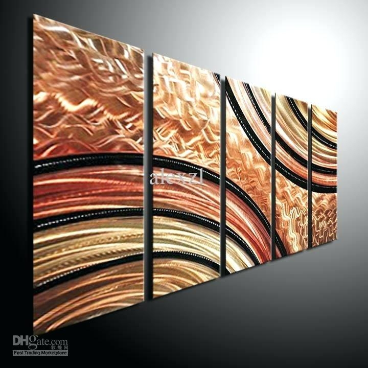 Abstract Wall Art Metal Big Abstract Metal Wall Art Sculpture For Circle Bubble Wave Shaped Metal Abstract Wall Art (Image 4 of 20)