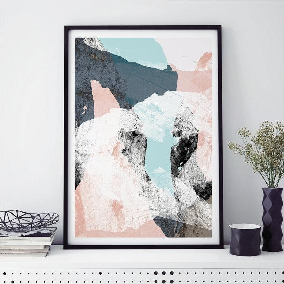 Abstract Wall Art, Minimalist Prints, Scandi Prints, Fine Art Regarding Abstract Wall Art Prints (Image 8 of 20)