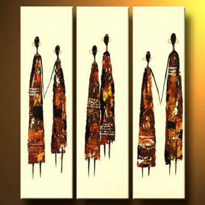 African Couples Modern Canvas Art Wall Decor Abstract Oil Painting With Abstract African Wall Art (Image 8 of 20)