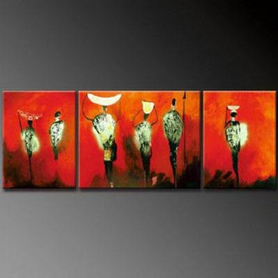 African Fog Modern Canvas Art Wall Decor Abstract Oil Painting With Abstract African Wall Art (Image 9 of 20)