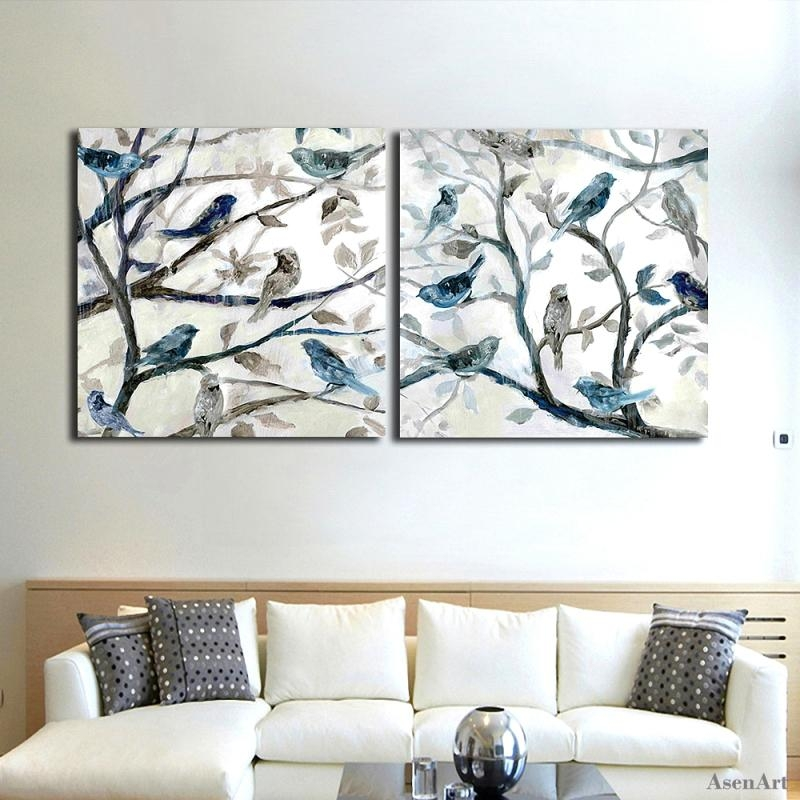 Aliexpress : Buy Hand Painted Abstract Oil Painting On Canvas With Abstract Bird Wall Art (Image 6 of 20)