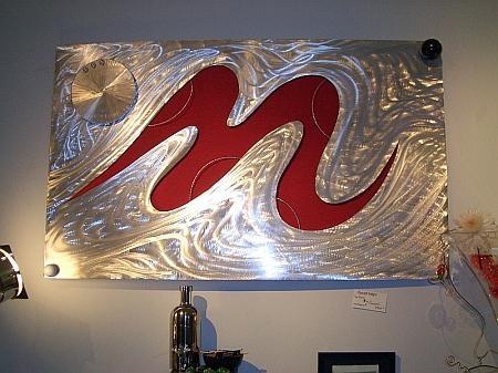 Aluminum Metal Art Sculptures, Contemporary Aluminum Metal Art For Aluminum Abstract Wall Art (Image 12 of 20)