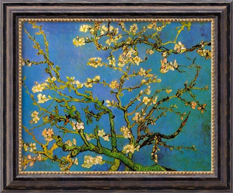 Amanti Art 'almond Blossom'vincent Van Gogh Framed Painting Within Almond Blossoms Vincent Van Gogh Wall Art (Image 4 of 20)