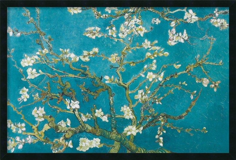 Amanti Art Almond Branches In Bloom, San Remy 1890Vincent Van Inside Almond Blossoms Vincent Van Gogh Wall Art (Image 5 of 20)