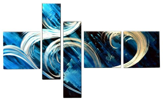 Amazing Metal Wall Art Abstract Modern Contemporary Sculpture With Blue Abstract Wall Art (Image 7 of 20)
