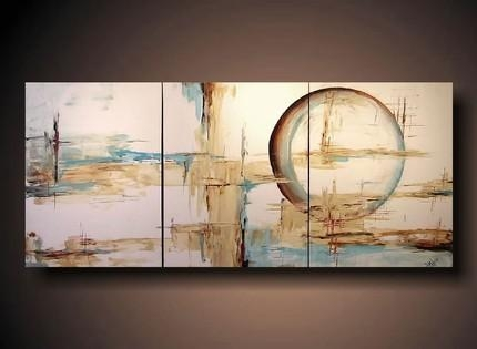 And Brown Abstract Painting With Blue And Brown Abstract Wall Art (Image 2 of 20)