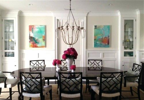 Art For Dining Room Pair Of Abstract Paintings Transitional Dining Regarding Abstract Wall Art For Dining Room (View 6 of 20)