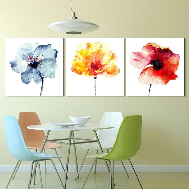 Artryst Modern Abstract Flower Art Prints Poster Colorful Wall For Abstract Flower Wall Art (Image 7 of 20)
