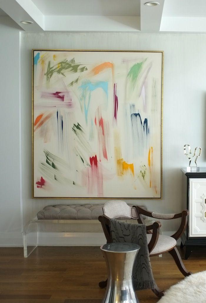 Artwall Decor Cosmos Abstract Art Neiman Marcus Gold And Framed Inside Framed Abstract Wall Art (Image 5 of 20)