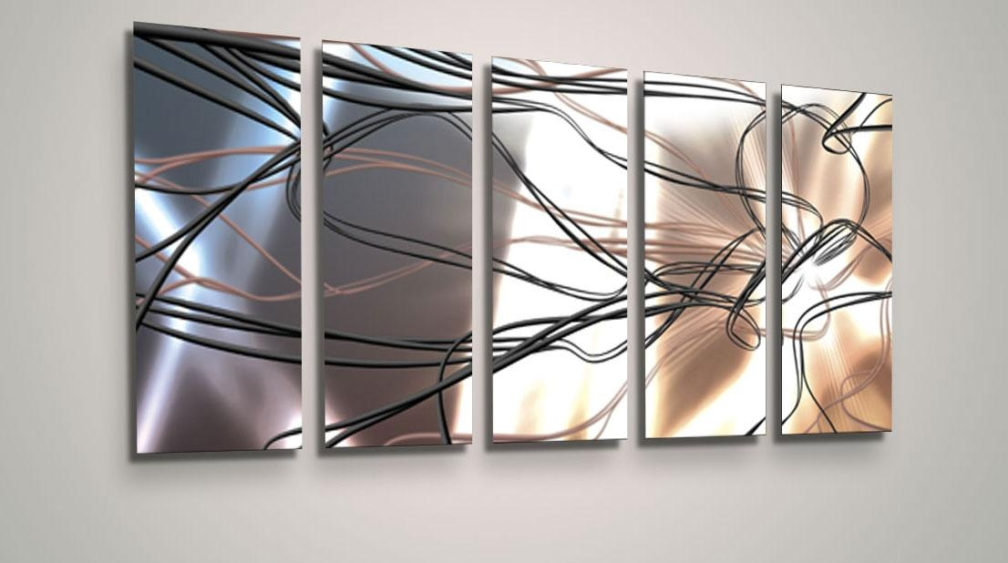 Awesome Abstract Metal Wall Art Luxwallart Pertaining To Abstract Throughout Abstract Angkor Swirl Metal Wall Art (Image 4 of 20)