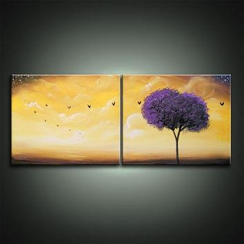 Best Abstract Tree Painting Acrylic Products On Wanelo Throughout Abstract Bird Wall Art (Image 7 of 20)