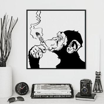 Best Black And White Abstract Canvas Products On Wanelo Regarding Black And White Abstract Wall Art (Image 7 of 20)