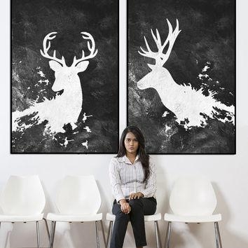 Best Large Abstract Canvas Art Products On Wanelo With Abstract Deer Wall Art (Image 9 of 20)