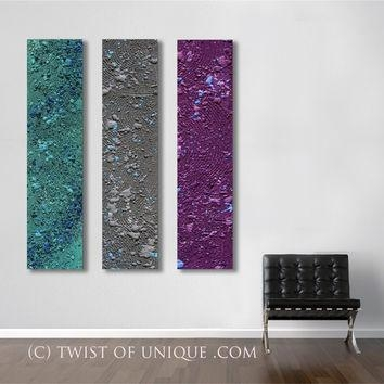 Best Purple And Gray Abstract Art Products On Wanelo With Regard To Dark Purple Abstract Wall Art (View 7 of 20)