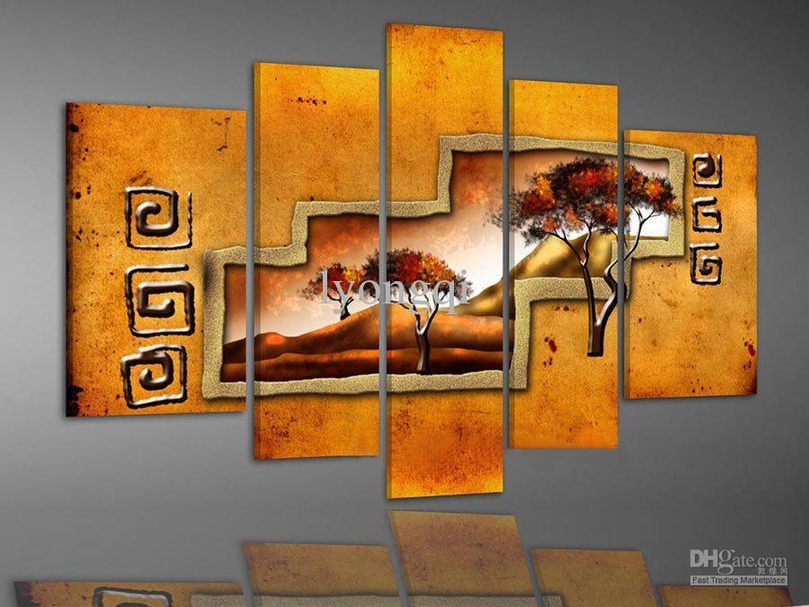Best Quality Hand Painted Hi Q Modern Wall Art Home Decorative Throughout Abstract African Wall Art (Image 12 of 20)