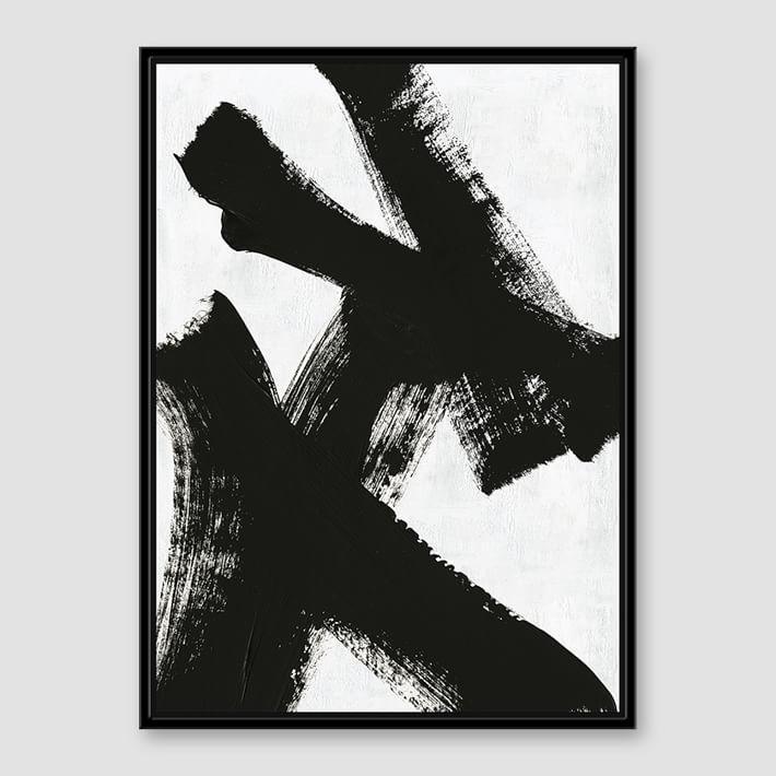 Black And White Manjuzaka Wall Art Intended For Black And White Abstract Wall Art (Image 9 of 20)