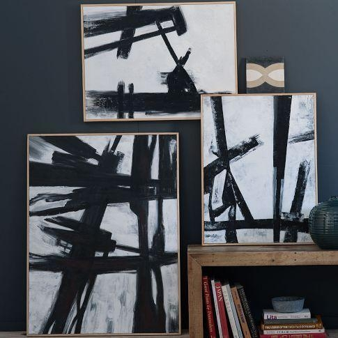 Black + White Wall Art – West Elm In Bold Abstract Wall Art (Image 6 of 20)