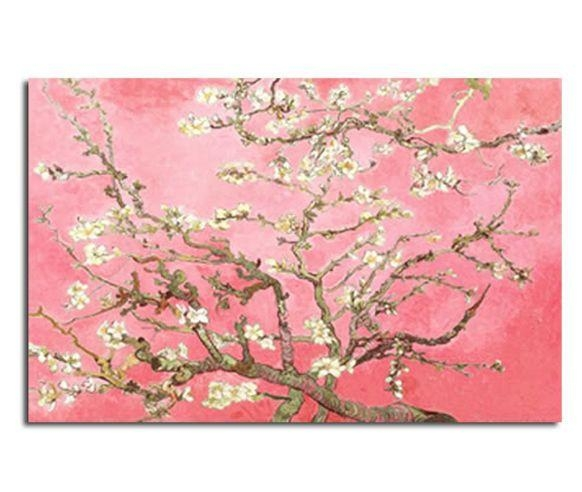 Blossomsvincent Van Gogh In Pink 30X20 Inch 52X77Cm Canvas Intended For Almond Blossoms Vincent Van Gogh Wall Art (Image 7 of 20)