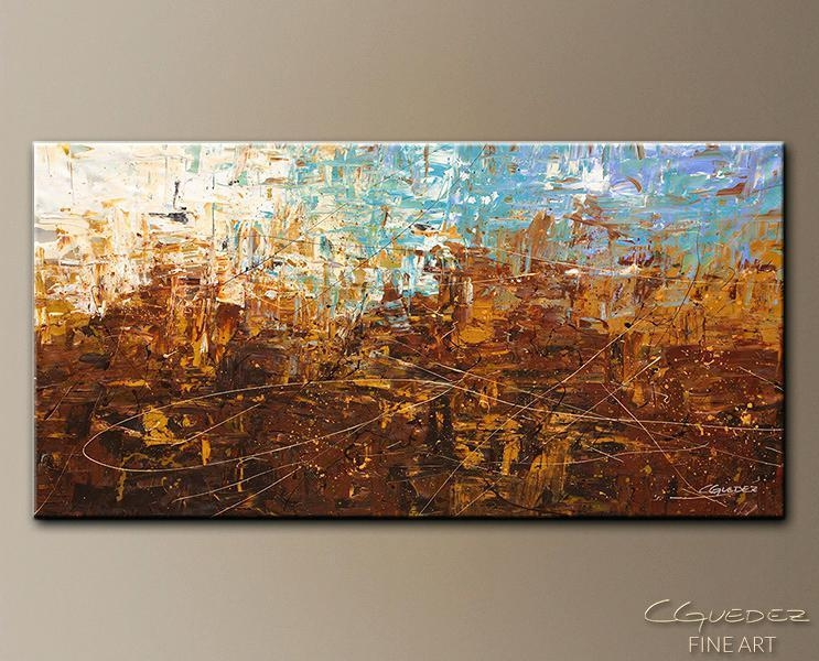 Blue Abstract Wall Art Best Selling Item Blue And Brown Abstract Inside Brown Abstract Wall Art (Image 5 of 20)