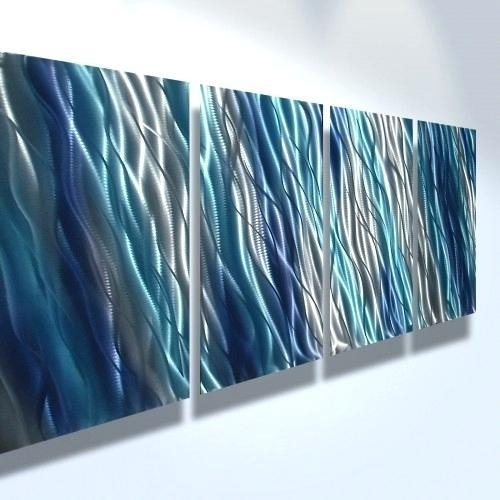 Blue Wall Art Abstract Wall Art Original Painting Modern Painting Throughout Dark Blue Abstract Wall Art (Image 7 of 20)