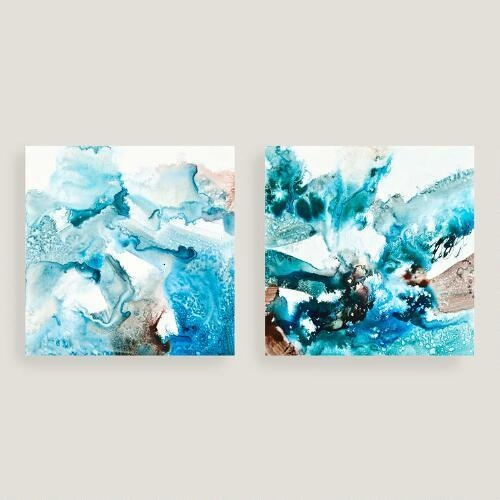 Blues Canvas Wall Art In Aqua Abstract Wall Art (View 18 of 20)