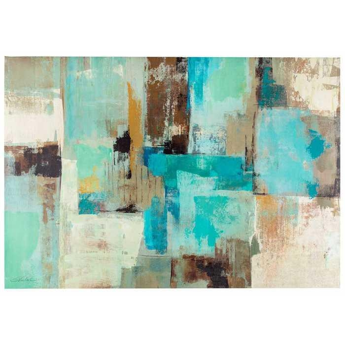 Brilliant 20+ Blue And Brown Wall Art Design Decoration Of 40 Blue In Brown Abstract Wall Art (Image 6 of 20)