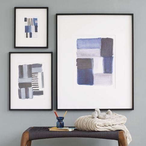 Brushstroke Wall Art – West Elm For Framed Abstract Wall Art (Image 7 of 20)