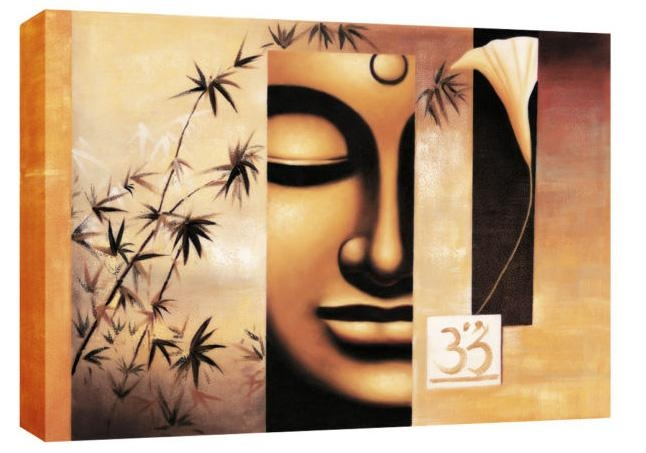 Buddha Abstract Canvas Wall Art Picture Large 113 X 80Cm 45X32 Regarding Abstract Buddha Wall Art (View 4 of 20)