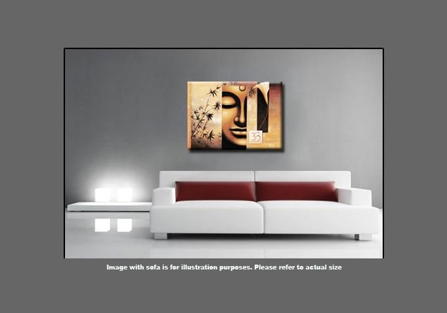 Buddha Abstract Canvas Wall Art Picture Large 113 X 80Cm 45X32 Throughout Abstract Buddha Wall Art (View 7 of 20)
