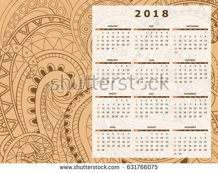 Business English Calendar Wall On Year Stock Vector 631766075 In Abstract Calendar Art Wall (View 18 of 20)