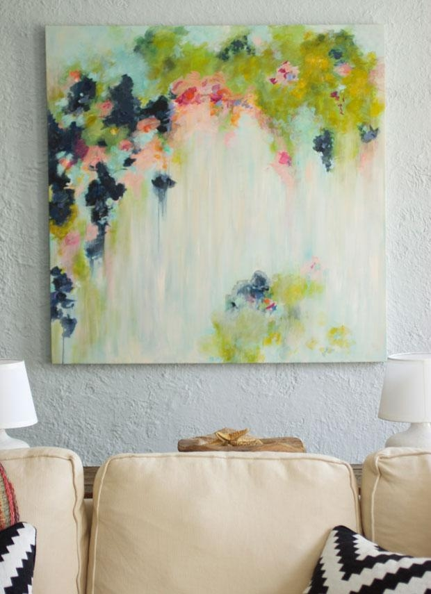Canvas Painting Ideas And Diy Abstract Art | The Fox & She Within Diy Abstract Canvas Wall Art (Image 7 of 20)