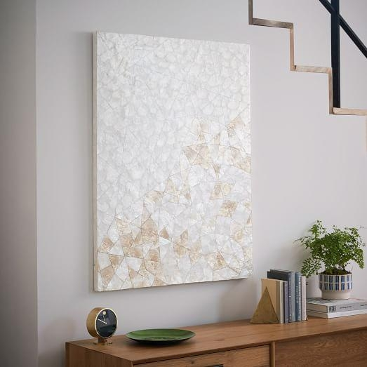 Capiz Wall Art – Crystal Formation | West Elm For West Elm Abstract Wall Art (Image 7 of 20)