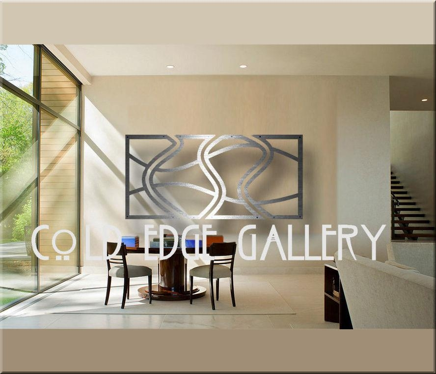 Cold Edge Gallery Large Metal Wall Art Abstract Contemporary Regarding Aluminum Abstract Wall Art (Image 16 of 20)
