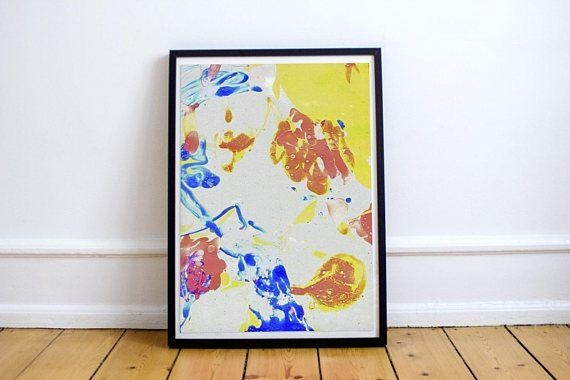 Colorful Abstract Painting. Expressive Wall Decor (Image 11 of 20)