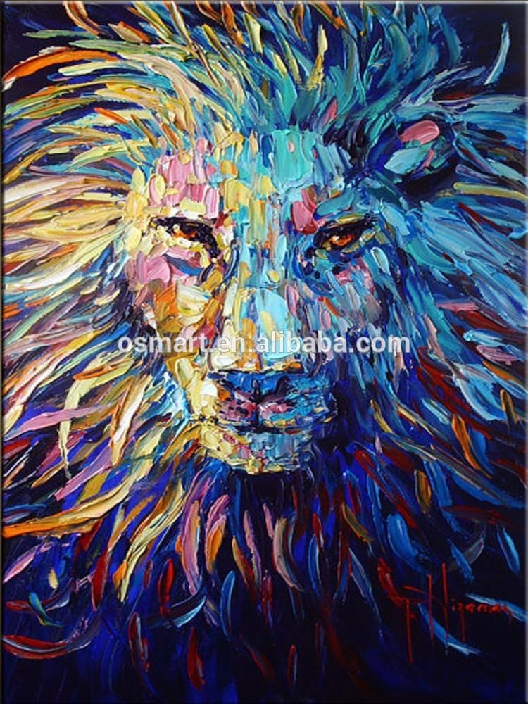 Colorful Animal Oil Painting On Canvas Abstract Animal Oil Intended For Abstract Animal Wall Art (Image 10 of 20)