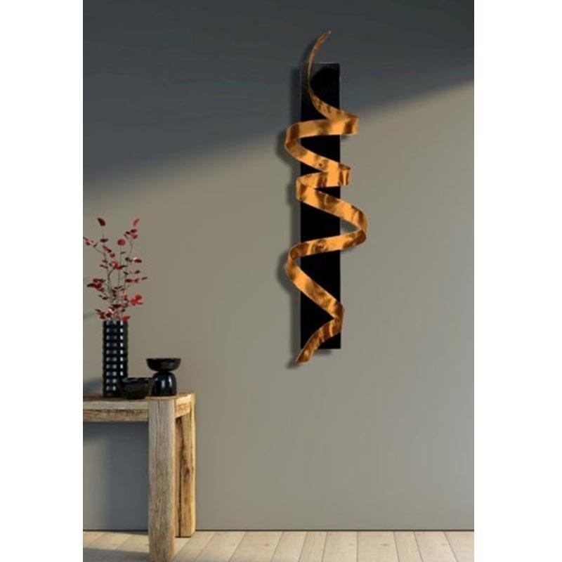Copper Knight – Copper Abstract 3D Twist Metal Wall Art Sculpture Inside Sculpture Abstract Wall Art (Image 9 of 20)