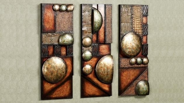Copper Metal Wall Art Glamorous 15 Modern And Contemporary With Abstract Copper Wall Art (Image 3 of 20)
