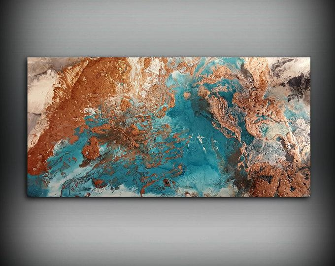 Copper Paintings – L Dawning Scott Fine Art In Abstract Copper Wall Art (Image 4 of 20)