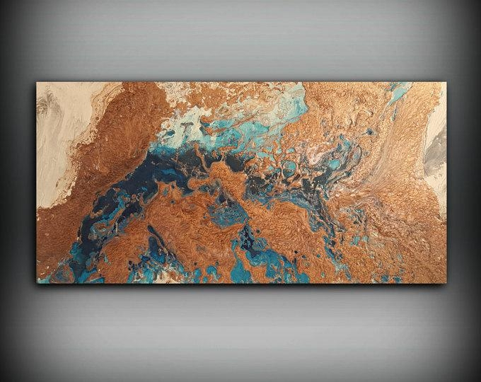 Copper Paintings – L Dawning Scott Fine Art Regarding Abstract Copper Wall Art (Image 5 of 20)
