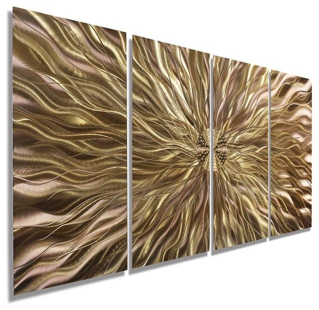 Copper Static Metal Wall Art Paintingjon Allen – Contemporary Intended For Abstract Copper Wall Art (Image 8 of 20)