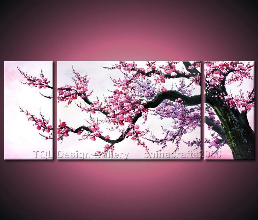 Cuadro Ramas Arbol – Buscar Con Google | Wall Frames | Pinterest Regarding Cherry Blossom Oil Painting Modern Abstract Wall Art (Image 7 of 20)
