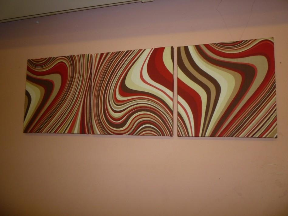 Decoration Ideas: Magnificent Reddish Abstract Fabric Wall Art And Throughout Abstract Fabric Wall Art (Image 7 of 12)