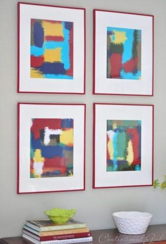 Design Ideas – Colorful Abstract Wall Art Frames | Decoviewer In Diy Abstract Wall Art (Image 8 of 20)