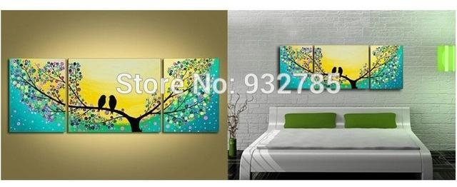 Directly From Artist 100% Handmade Modern Abstract Bird Tree Oil With Abstract Bird Wall Art (Image 9 of 20)