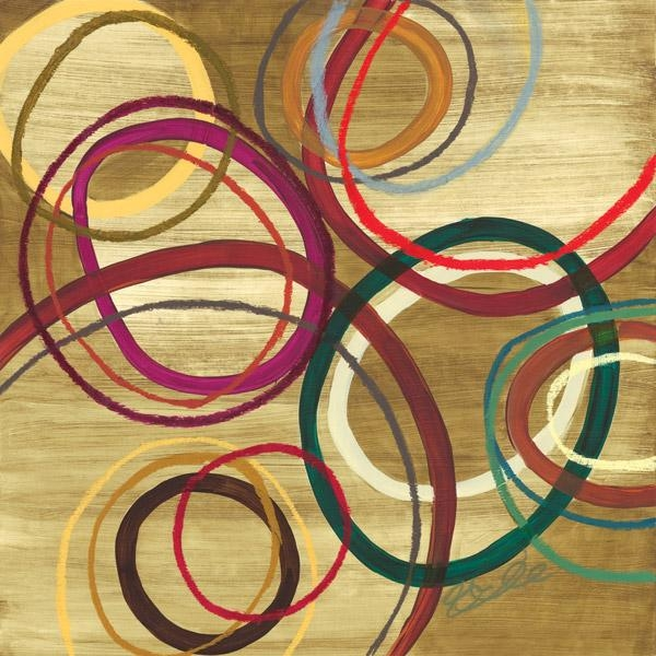 District17: Abstract Circles I Canvas Wall Art: Canvas Wall Art Throughout Abstract Circles Wall Art (Image 10 of 20)