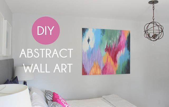 Diy Abstract Canvas Art – Beautiful Modern Contemporary House Regarding Diy Modern Abstract Wall Art (Image 8 of 20)